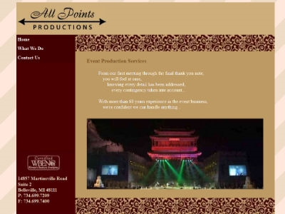All Points Productions - Event Production Firm
